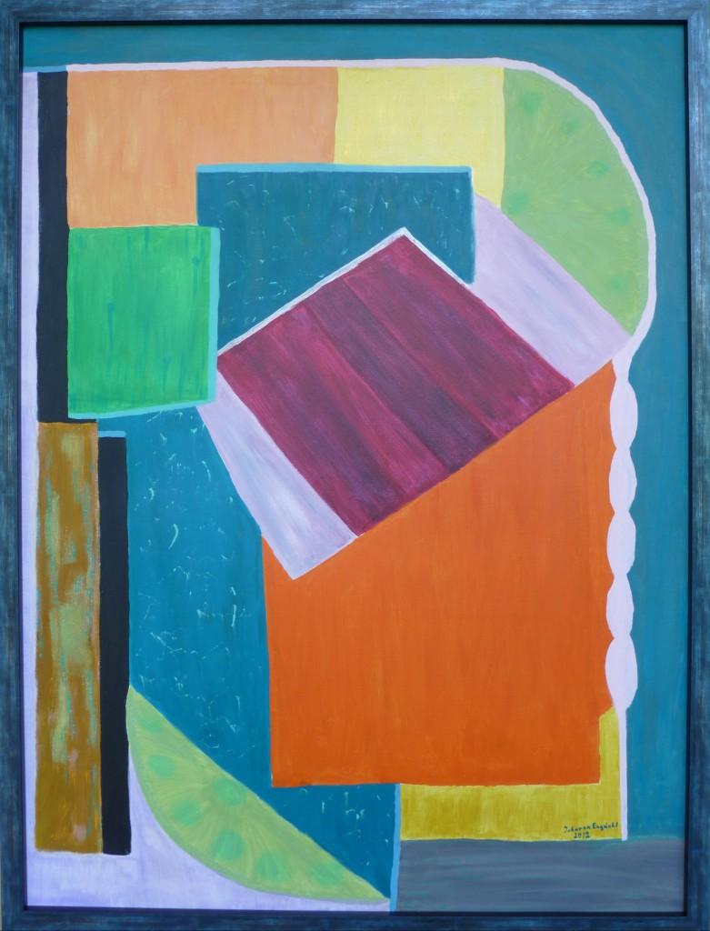 Johanna Engdahl. Longing for summer. Acrylic on canvas, 90 x120 cm, 2013