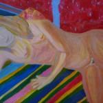 Johanna Engdahl. Alone. Akrylic on canvas panel, 46 x 55 cm, 2013