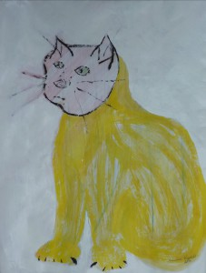 Angry cat. Acrylic on paper, 56 x 80 cm, 2014