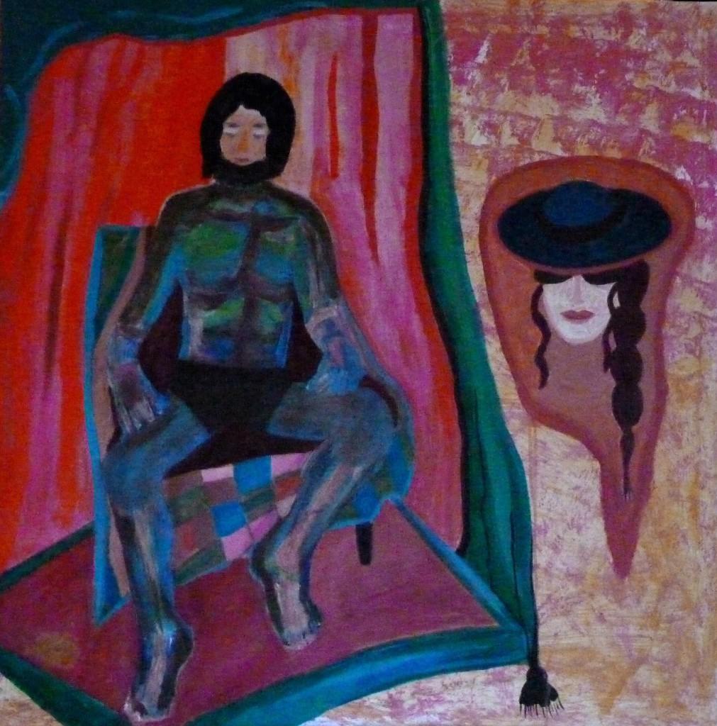 Johanna Engdahl. The Dreaming Man. Oil on linen canvas,100 x100 cm, 2014