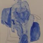 Johanna Engdahl. Model drawing 2. Ink on paper, 31 x 40 cm, 2013