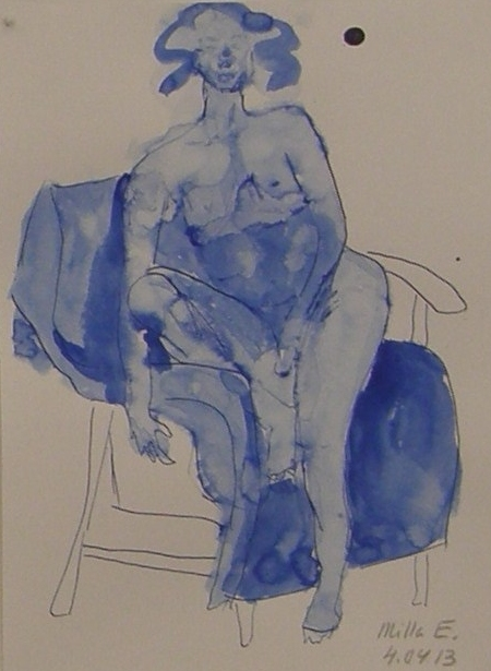 Johanna Engdahl. Model drawing 2. Ink on paper, 31 x 40 cm, 2013
