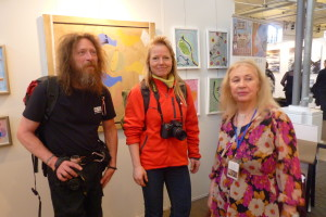 Johanna with visitors att Art Nordic 2016, st.68