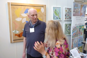 Johanna with visitors att Art Nordic 2016, st.68/Video in Swedish